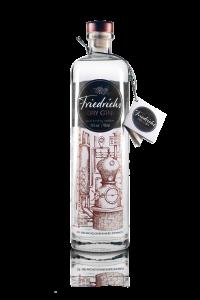 Hochwertiger Gin mit einem Anhängeetikett von Kip