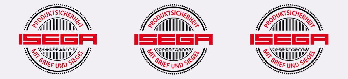 ISEGA Zertifikate Kip