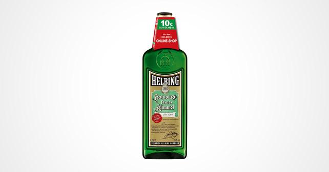 Flasche mit einem Crowner