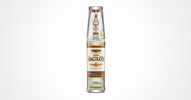 Glasabstandhalter auf einer Flasche