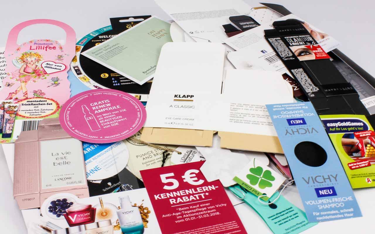 Kosmetikpaket | Muster von Schachteln und P.o.S. Produkten