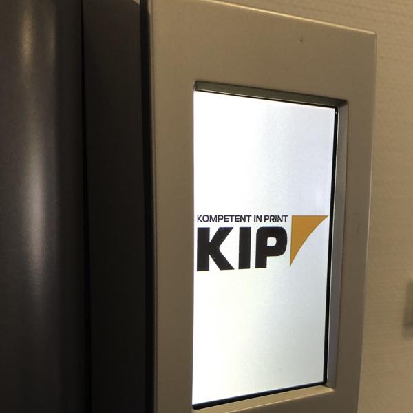 Kip Logo auf Display vom Wasserspender
