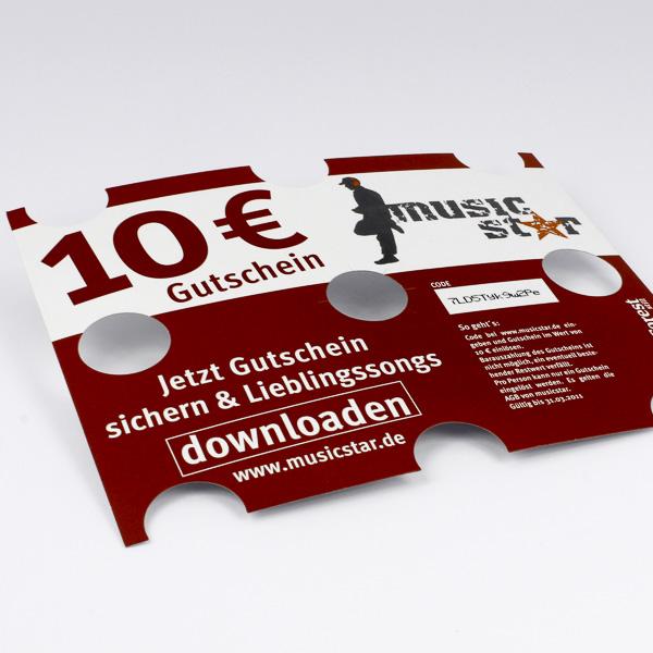 Kistenaufleger mit Gewinnspielcodes