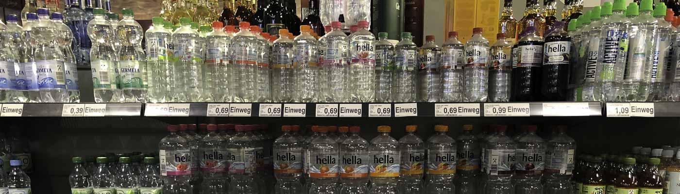 Getränke im Supermarktregal - ohne Promotion sehen alle gleich aus!