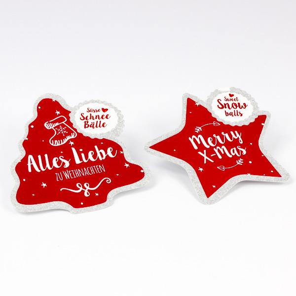 Weihnachtlicher Anhänger mit Glitterlack