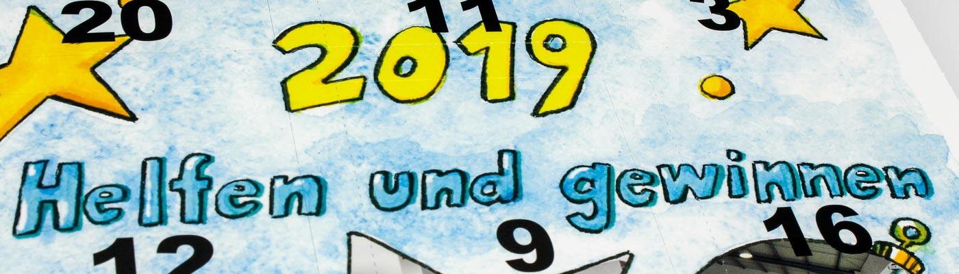 Helfen & Gewinnen mit bedruckten Spendenkalendern