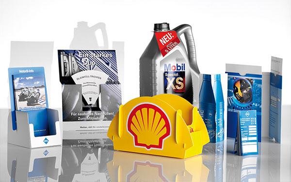 Ölwechselanhänger + Displays