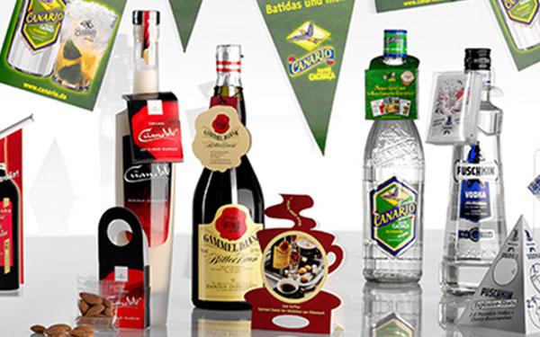 Flaschenanhänger | gestanzt und mit Kordel