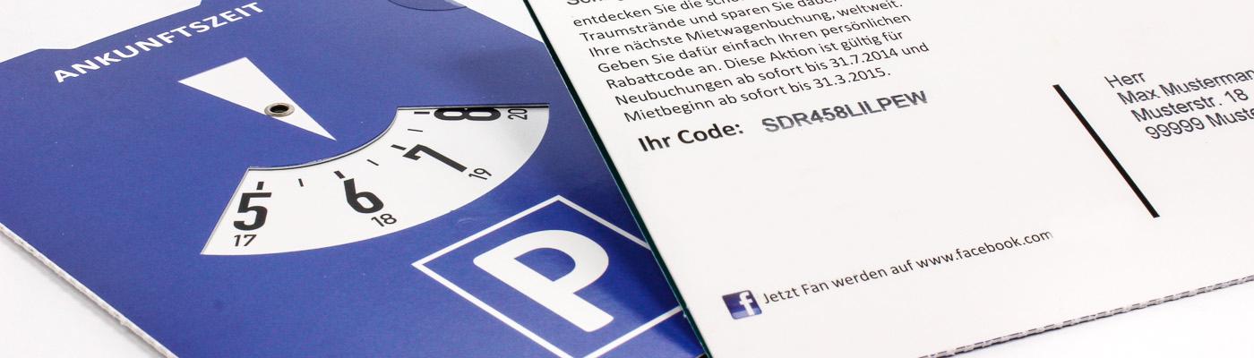 Personalisierung inkl. Rabattcode als Mailing