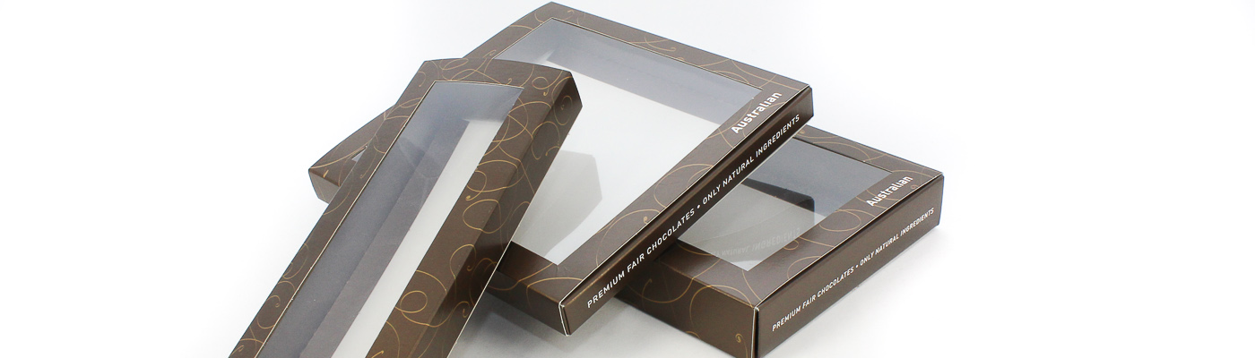 Schachteln mit Sichtfenster